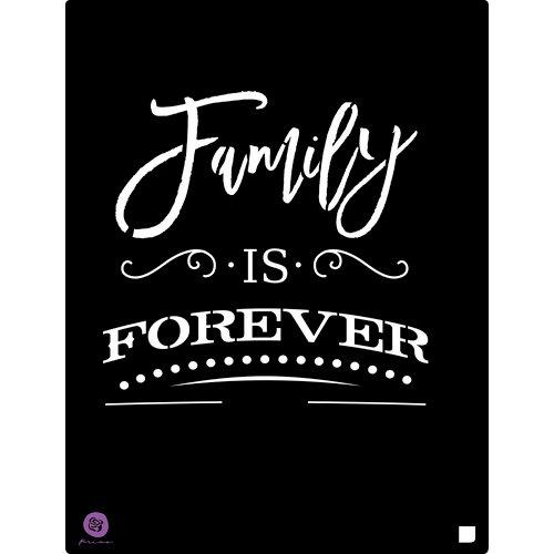 Prima - 9.5 x 12 Stencil - Family Is