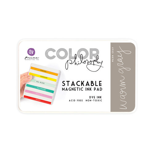 Prima - Color Philosophy - Stackable Magnetic Ink Pad - Warm Gray