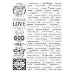 Prima - Love Faith Scrap Collection - Cardstock Stickers - Word