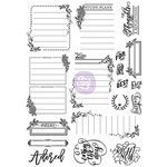 Prima - Love Faith Scrap Collection - Cling Mounted Rubber Stamps - Journaling