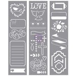 Prima - Love Faith Scrap Collection - Stencils