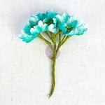Prima - Flower Bundles Embellishments - Teal