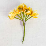 Prima - Flower Bundles Embellishments - Yellow