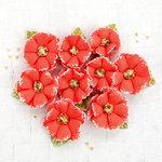 Prima - Flower Embellishments - Papaya