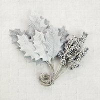 Prima - Flower Embellishments - Silver Cloud