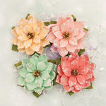Prima - Sweet Peppermint Collection - Christmas - Flower Embellishments - First Snow Fall
