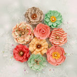 Prima - Sweet Peppermint Collection - Christmas - Flower Embellishments - Sweet Peppermint