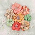 Prima - Sweet Peppermint Collection - Christmas - Flower Embellishments - Christmas Lights