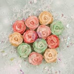 Prima - Sweet Peppermint Collection - Christmas - Flower Embellishments - Snow Roses