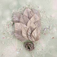 Prima - Sweet Peppermint Collection - Christmas - Flower Embellishments - Northpole