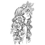 Prima - Princesses Collection - Cling Mounted Rubber Stamps - Olivia