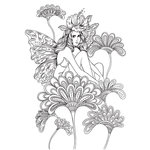 Prima - Princesses Collection - Cling Mounted Rubber Stamps - Anastasia