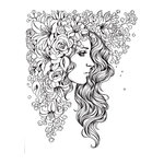 Prima - Princesses Collection - Cling Mounted Rubber Stamps - Natalie