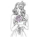 Prima - Princesses Collection - Cling Mounted Rubber Stamps - Gabrielle