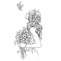 Prima - Princesses Collection - Cling Mounted Rubber Stamps - Aubrey