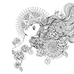Prima - Princesses Collection - Cling Mounted Rubber Stamps - Giselle