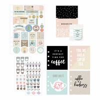 Prima - My Prima Planner Collection - Goodie Pack - Coffee and Tea Lovers with Foil Accents