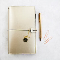 Prima - My Prima Planner Collection - Traveler's Journal - Starter Journal Set - Champagne