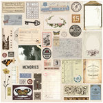 Prima - My Prima Planner Collection - Traveler's Journal - Vintage Ephemera and Sticker Sheet with Foil Accents