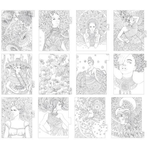 Prima - My Prima Planner Collection - Prima Princesses Dividers - Two