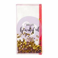 Prima - My Prima Planner Collection - Travelers Journal - Clear Shaker Pouch - Hello Beautiful