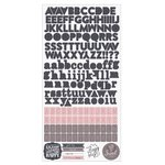 Prima - Rose Quartz Collection - Cardstock Stickers - Alphabet