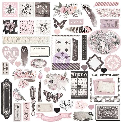Prima - Rose Quartz Collection - Ephemera Pack with Foil Accents
