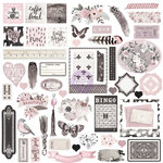 Prima - Rose Quartz Collection - Ephemera Pack with Foil Accents