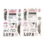Prima - Rose Quartz Collection - Puffy Stickers