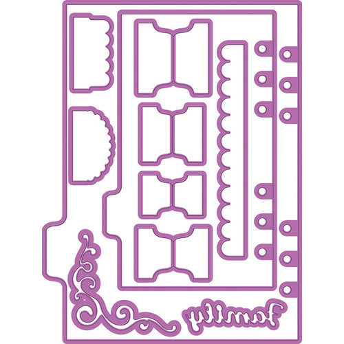 Prima - My Prima Planner Collection - Metal Dies - Shapes 2