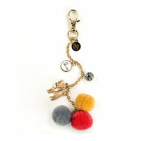 Prima - My Prima Planner Collection - Pom Pom Key Chain - Kitty Cat Love