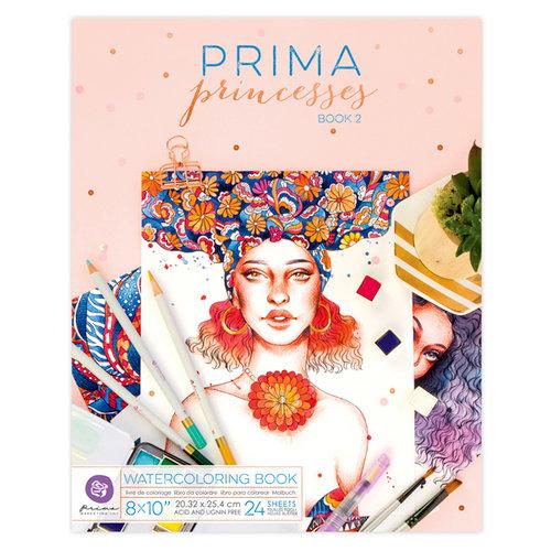 Prima - Coloring Book - Watercolor Paper - Princesses 2