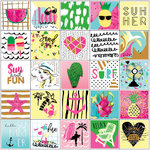 Prima - My Prima Planner Collection - Cardstock Stickers - Summer with Foil Accents