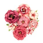 Prima - Love Clippings Collection - Flower Embellishments - Passionate Love