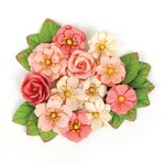 Prima - Love Clippings Collection - Flower Embellishments - Love Clippings