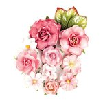 Prima - Love Clippings Collection - Flower Embellishments - Endless Friendship