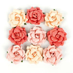 Prima - Love Clippings Collection - Flower Embellishments - Beautiful Life