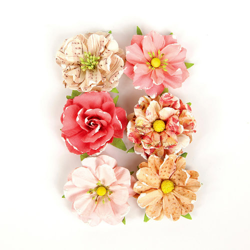Prima - Love Clippings Collection - Flower Embellishments - Together