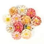 Prima - Love Clippings Collection - Flower Embellishments - Twinkle In My Eye