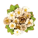 Prima - Wild and Free Collection - Flower Embellishments - Lost Sienna