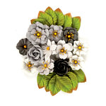 Prima - Rose Quartz Collection - Flower Embellishments - Black Marble