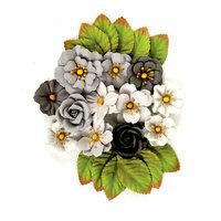 Prima - Rose Quartz Collection - Flower Embellishments - Black Marble