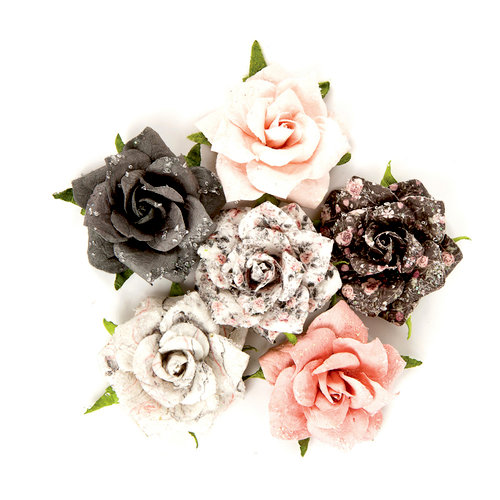 Prima - Rose Quartz Collection - Flower Embellishments - Persian Marblelite