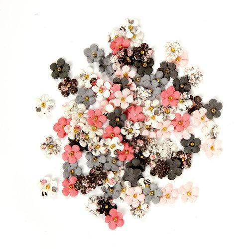 Prima - Rose Quartz Collection - Flower Embellishments - Travertine