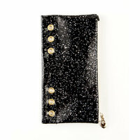 Prima - My Prima Planner Collection - Pencil Pouch - Black Glitter