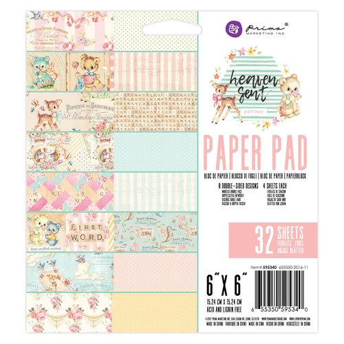 Prima - Heaven Sent 2 Collection - 6 x 6 Paper Pad