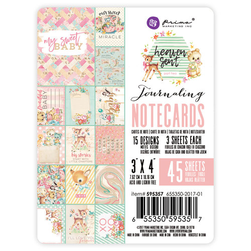 Prima - Heaven Sent 2 Collection - 3 x 4 Journaling Cards