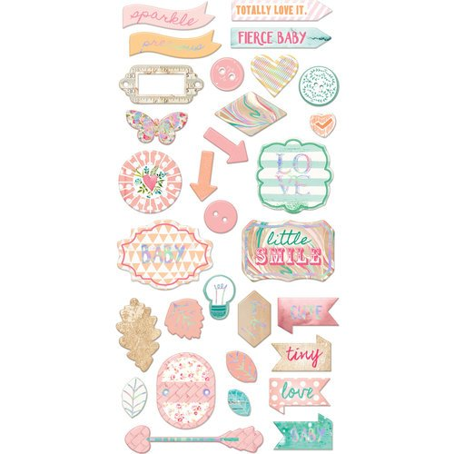 Prima - Heaven Sent 2 Collection - Chipboard Stickers and More with Foil Accents