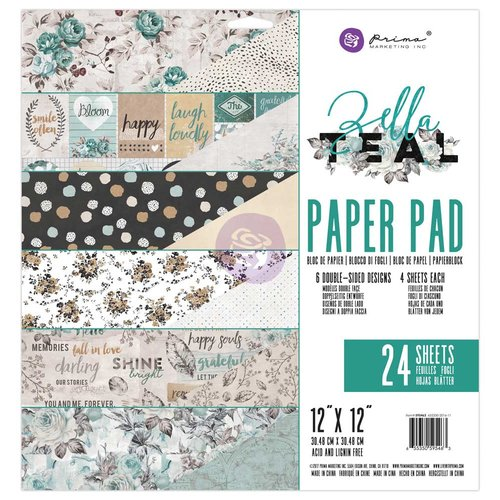 Prima - Zella Teal Collection - 12 x 12 Paper Pad