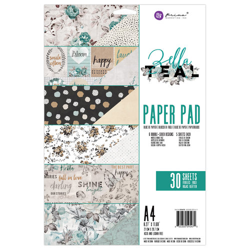 Prima - Zella Teal Collection - A4 Paper Pad